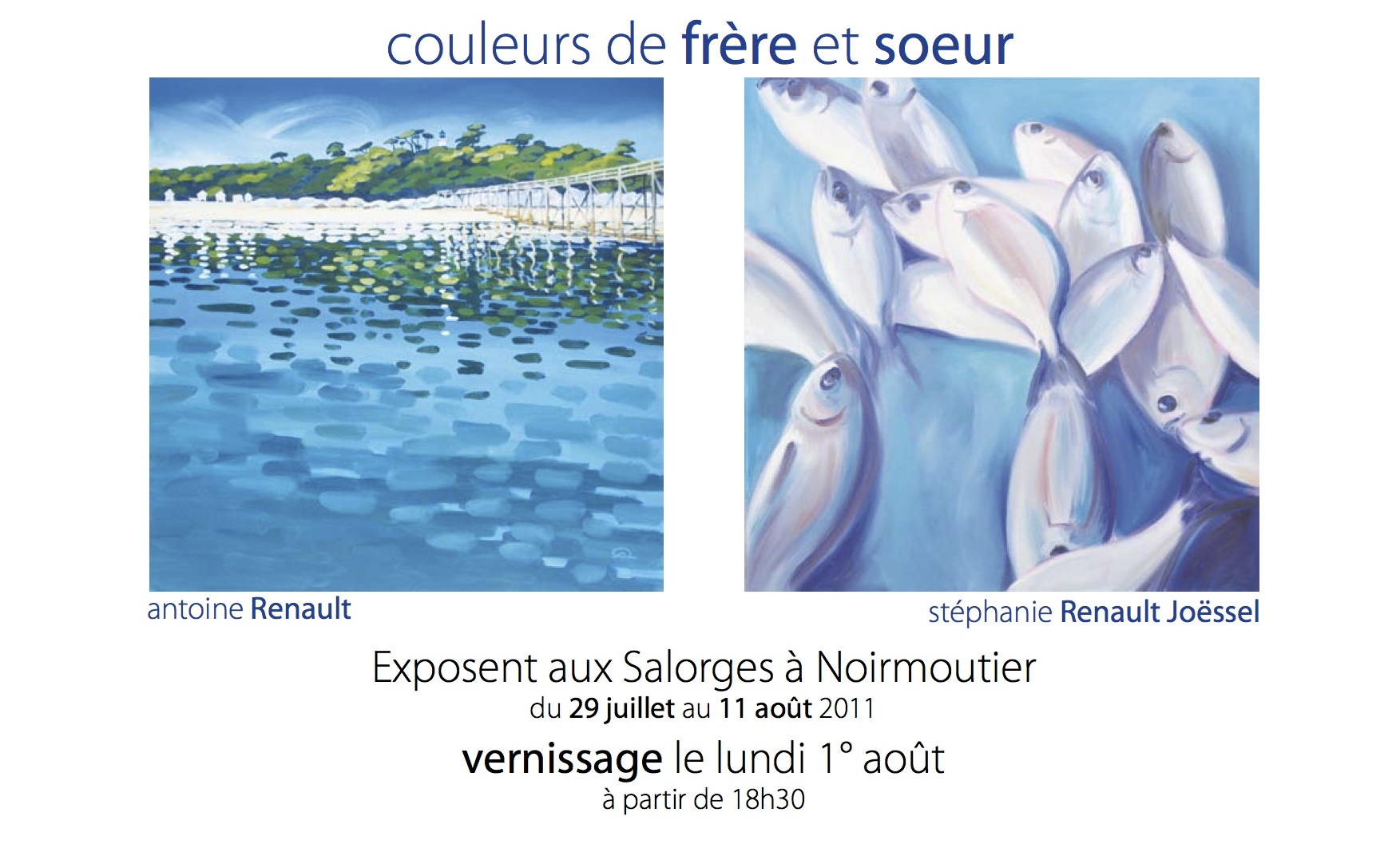 Invitation Vernissage - Exposition Les Salorges -  Antoine Renault - 2011