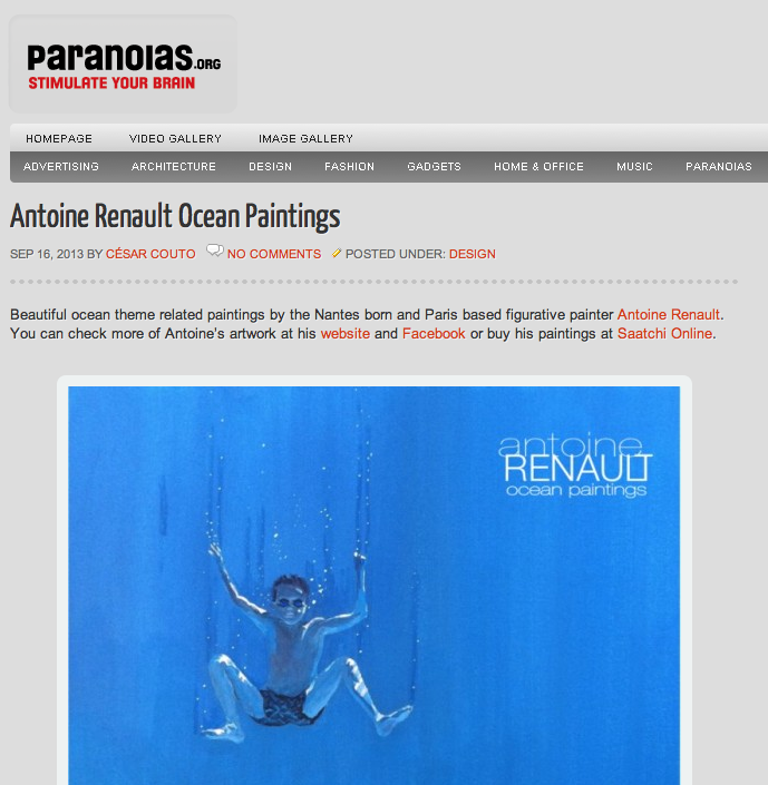 Paranoia  about Antoine-Renault ocean-paintings