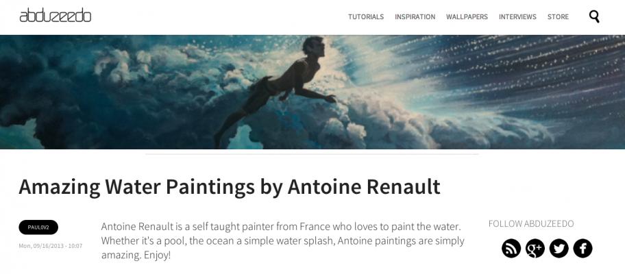 Abduzeedo on Antoine-Renault-painting