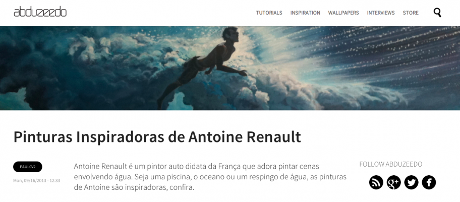 Abduzeedo about Antoine-Renault-painting