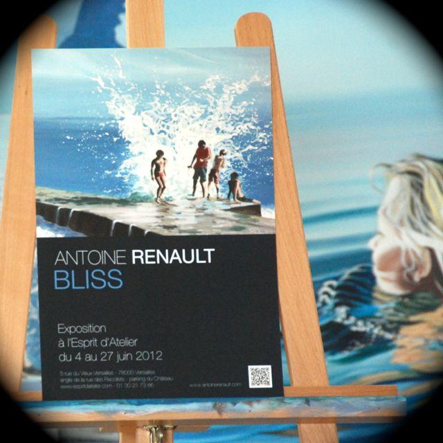 Affiche expo - Antoine Renault , Versailles 2012