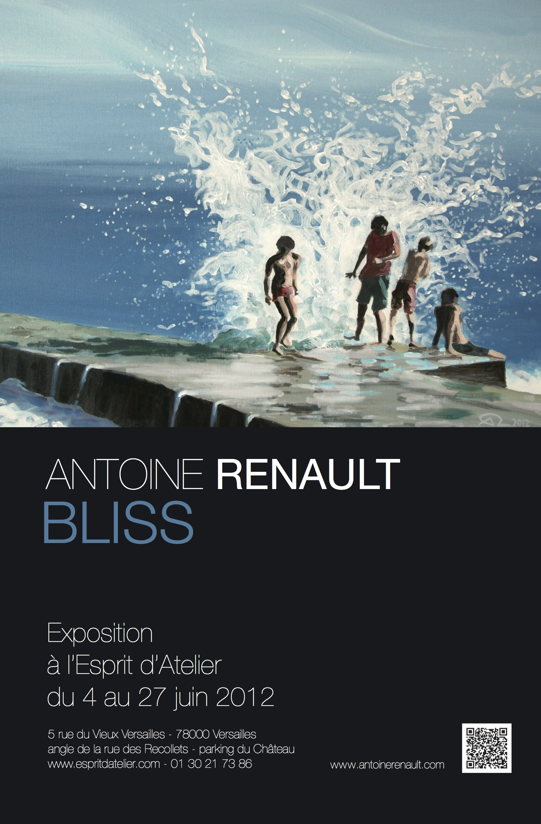 "AFFICHE Expo Antoine Renault ""Bliss"""