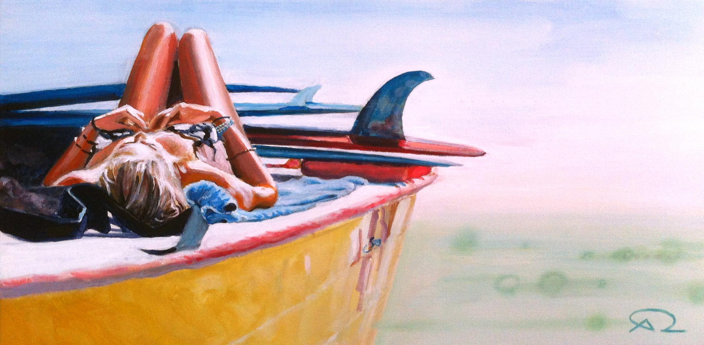"""Felicità"" - Antoine Renault  2012 - Acrylic on canvas - 80x40cm"