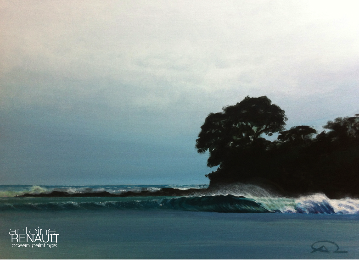 """Wave 04""  - A renault 2013 - Acrylic on canvas 73x54cm"