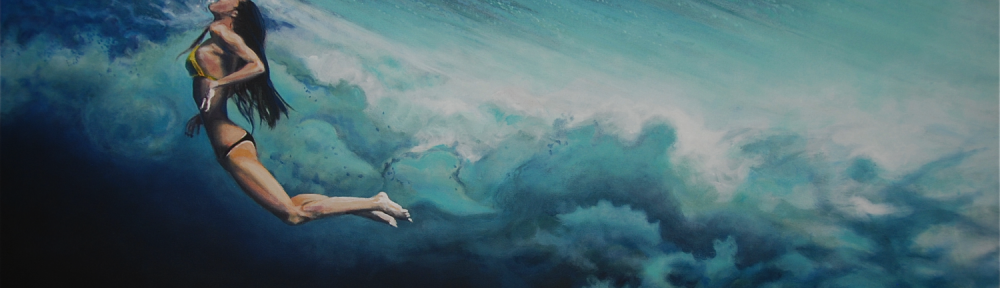 """Dancing beneath the clouds""   Antoine Renault 2013 - acrylic on canvas 115x80cm"