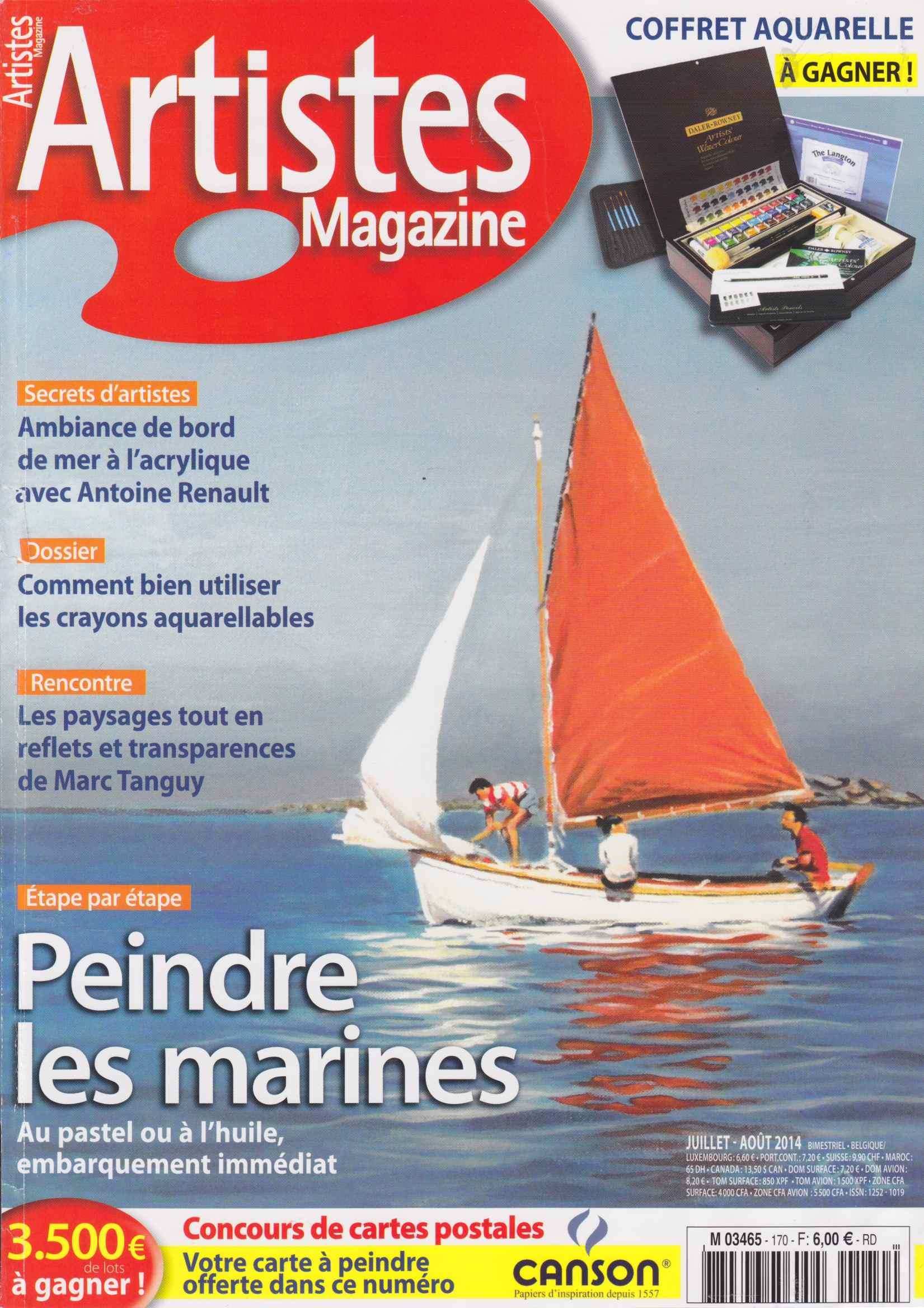 Antoine Renault - couverture Artiste Magazine