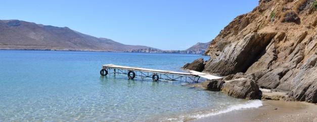 Pier of Levrossos beach