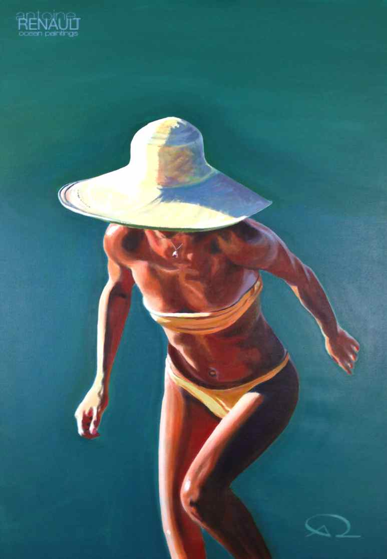 """Nice hat!""  ©AntoineRenault2015    Acrylic on canvas 100x70cm"