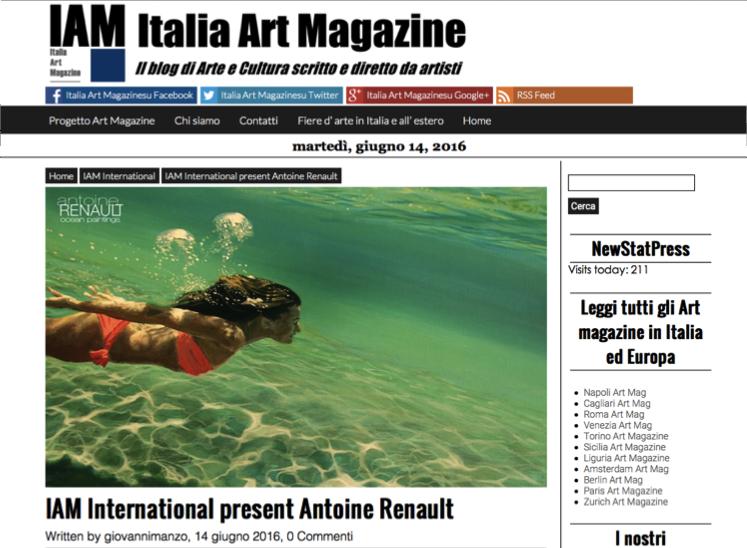 Italia Art Magazine AntoineRenault