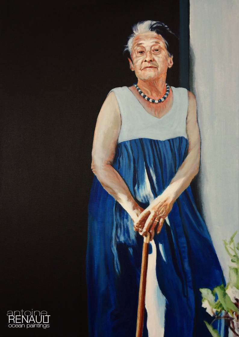 """Grand-mère Maud"" 2016©AntoineRenault acrylic on canvas 70x50cm"